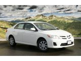 2011 Super White Toyota Corolla LE #44203089