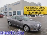 2010 Sterling Grey Metallic Ford Fusion SEL V6 AWD #44203143