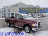 2003 Dark Garnet Red Pearl Dodge Ram 1500 SLT Regular Cab 4x4 #44203148