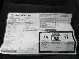 2003 Dodge Ram 1500 SLT Regular Cab 4x4 Window Sticker
