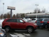 2011 Spicy Red Kia Sorento EX V6 AWD #44203979