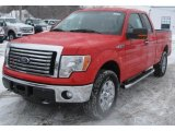 2011 Race Red Ford F150 XLT SuperCab 4x4 #44204554