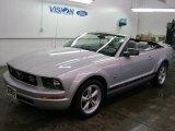 2007 Satin Silver Metallic Ford Mustang V6 Premium Convertible #44204805