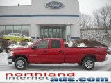 2007 Flame Red Dodge Ram 1500 ST Quad Cab 4x4 #44203280