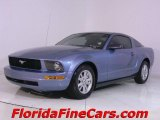 2005 Windveil Blue Metallic Ford Mustang V6 Deluxe Coupe #441132