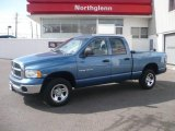 2005 Atlantic Blue Pearl Dodge Ram 1500 SLT Quad Cab 4x4 #4426995