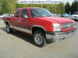 2005 Victory Red Chevrolet Silverado 1500 Z71 Extended Cab 4x4 #44395562