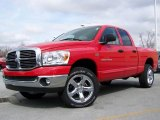 2007 Flame Red Dodge Ram 1500 Big Horn Edition Quad Cab 4x4 #4423776