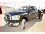 2007 Brilliant Black Crystal Pearl Dodge Ram 3500 SLT Quad Cab 4x4 Dually Chassis #4436770