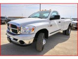2007 Bright White Dodge Ram 3500 SLT Regular Cab 4x4 Dually #4436771