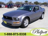 2007 Tungsten Grey Metallic Ford Mustang V6 Deluxe Coupe #4435381