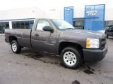 2011 Taupe Gray Metallic Chevrolet Silverado 1500 Regular Cab #44511185