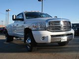 2007 Bright White Dodge Ram 3500 Laramie Quad Cab 4x4 Dually #44511661
