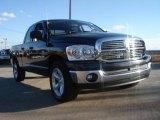 2008 Brilliant Black Crystal Pearl Dodge Ram 1500 Lone Star Edition Quad Cab #44511666