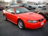 2001 Performance Red Ford Mustang V6 Convertible #44511692