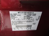 2004 F350 Super Duty Color Code for Dark Toreador Red Metallic - Color Code: JM