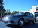 2011 Steel Blue Metallic Ford Fusion SEL #44508935