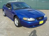 Sonic Blue Metallic Ford Mustang in 2002