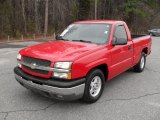 2004 Victory Red Chevrolet Silverado 1500 LS Regular Cab #44511854
