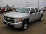 2011 Sheer Silver Metallic Chevrolet Silverado 1500 LS Crew Cab #44511876