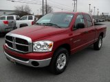 2007 Flame Red Dodge Ram 1500 SLT Quad Cab #44512072