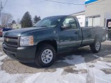 2011 Steel Green Metallic Chevrolet Silverado 1500 Regular Cab 4x4 #44510663