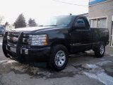 2008 Black Chevrolet Silverado 1500 LS Regular Cab 4x4 #44510664
