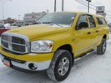 2008 Detonator Yellow Dodge Ram 1500 Big Horn Edition Quad Cab 4x4 #44512249