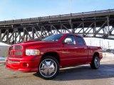 2004 Flame Red Dodge Ram 1500 SLT Sport Quad Cab 4x4 #44511455