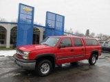 2003 Victory Red Chevrolet Silverado 1500 LS Crew Cab 4x4 #44510994