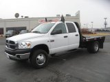 2008 Bright White Dodge Ram 3500 SLT Quad Cab 4x4 Chassis #44511478