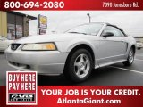 2000 Silver Metallic Ford Mustang V6 Convertible #44512309