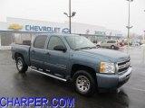 2010 Blue Granite Metallic Chevrolet Silverado 1500 LS Crew Cab 4x4 #44512347