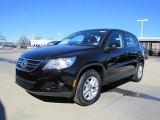 2011 Deep Black Metallic Volkswagen Tiguan S #44653762