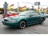 2000 Amazon Green Metallic Ford Mustang V6 Coupe #44653813