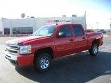 2011 Victory Red Chevrolet Silverado 1500 LS Crew Cab #44653837