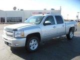2011 Sheer Silver Metallic Chevrolet Silverado 1500 LT Crew Cab 4x4 #44653838