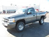 2011 Steel Green Metallic Chevrolet Silverado 1500 Regular Cab 4x4 #44653843