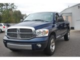 2007 Patriot Blue Pearl Dodge Ram 1500 Laramie Quad Cab #44653145