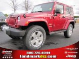 2011 Deep Cherry Red Crystal Pearl Jeep Wrangler Sahara 4x4 #44653238