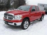2007 Inferno Red Crystal Pearl Dodge Ram 1500 Big Horn Edition Quad Cab 4x4 #44736053