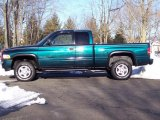 1998 Emerald Green Pearl Dodge Ram 1500 Sport Extended Cab 4x4 #44735604