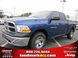 2011 Deep Water Blue Pearl Dodge Ram 1500 ST Quad Cab #44735389