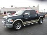 2011 Hunter Green Pearl Dodge Ram 1500 Laramie Crew Cab 4x4 #44735675