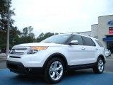 2011 White Platinum Tri-Coat Ford Explorer Limited #44735246