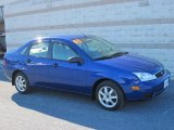 2005 Sonic Blue Metallic Ford Focus ZX4 SE Sedan #44735970