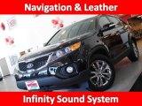 2011 Ebony Black Kia Sorento EX #44735351