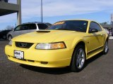 Zinc Yellow Ford Mustang in 2000