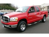 2006 Flame Red Dodge Ram 1500 SLT Quad Cab 4x4 #44805656