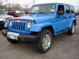 2011 Cosmos Blue Jeep Wrangler Unlimited Sahara 4x4 #44804013